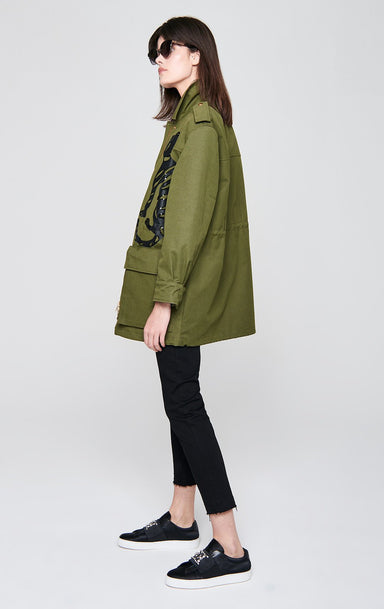 ESCADA Cotton Embroidered Parka Jacket
