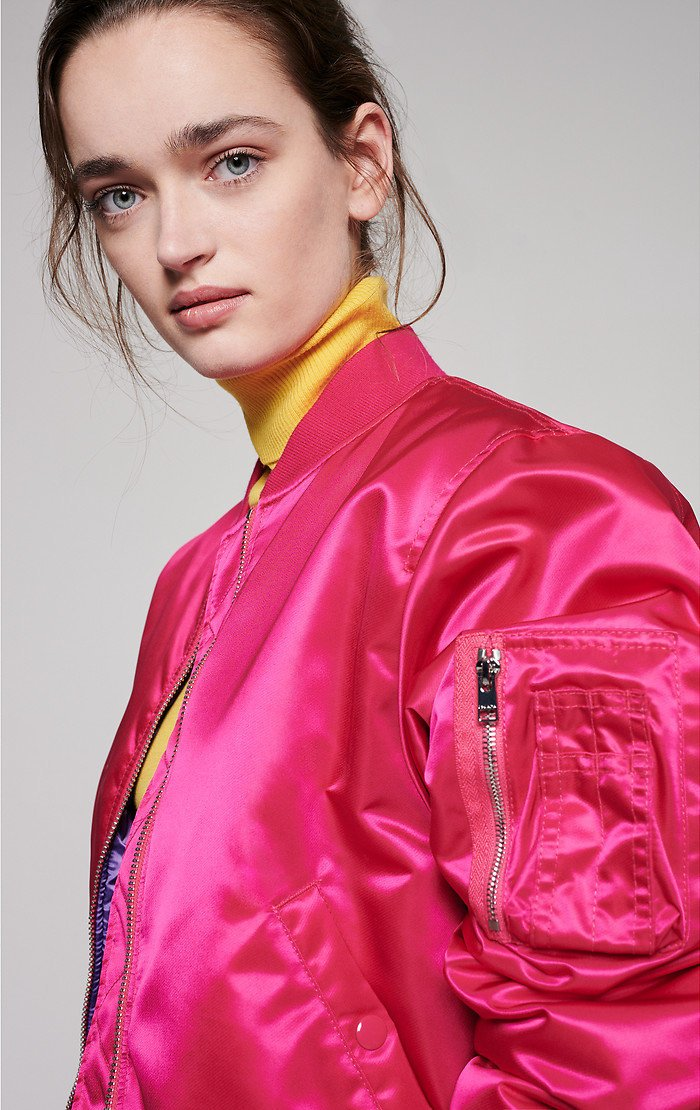 ESCADA Satin Padded Bomber Jacket