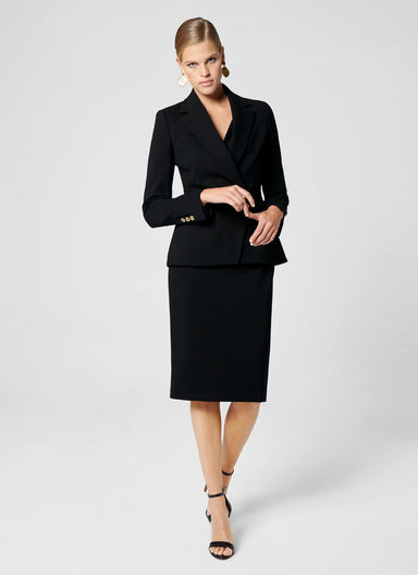 ESCADA Jersey Draped Midi Dress