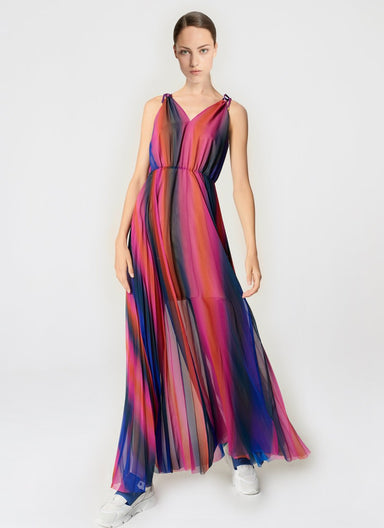 Multicolor Plissé Maxi Dress - ESCADA ?id=16464463724676