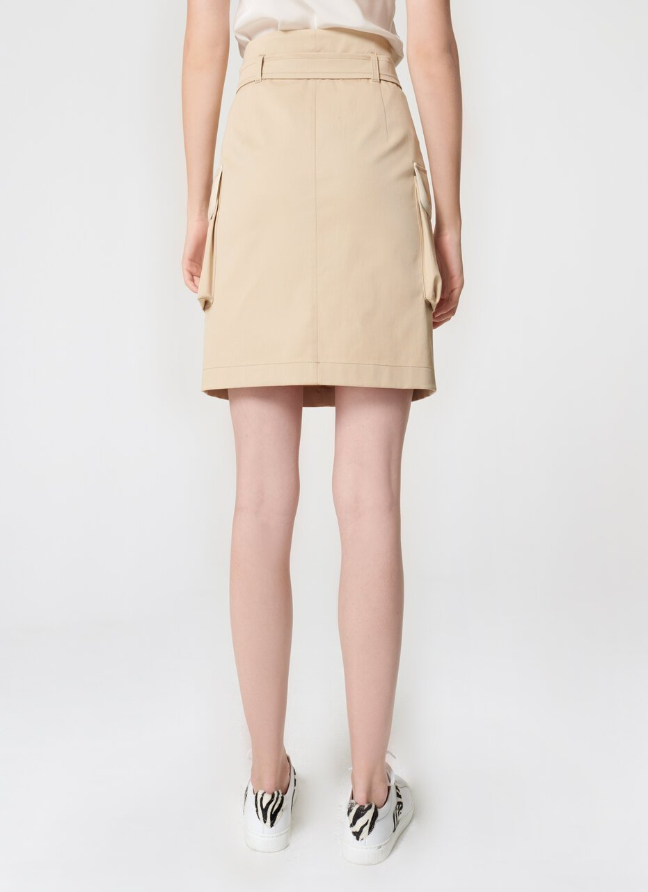 Cotton Belted Mini Skirt - ESCADA ?id=16464450977924
