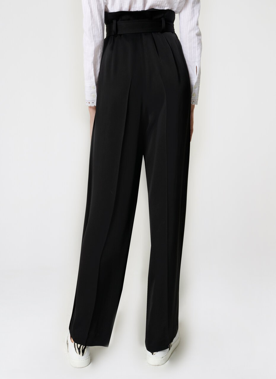 Crepe Belted Wide-Leg Pants - ESCADA ?id=16464465526916