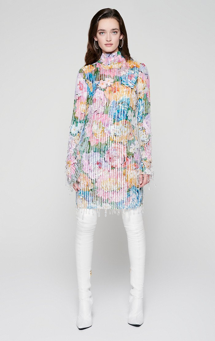 ESCADA Residency Collection - Sequin and Crystal Embellished Dress