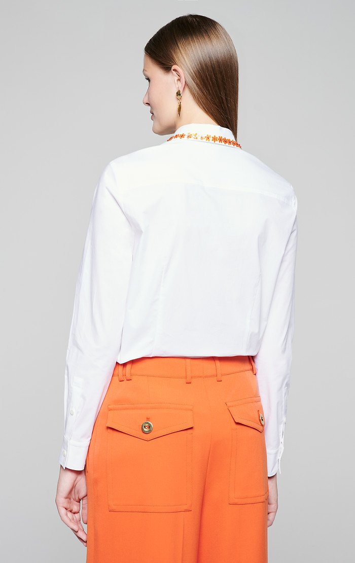 ESCADA Cotton Poplin Embroidered Shirt
