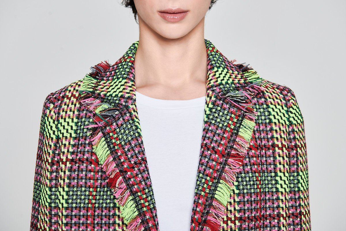Multicolor Check Tweed Jacket - ESCADA ?id=16179943145604