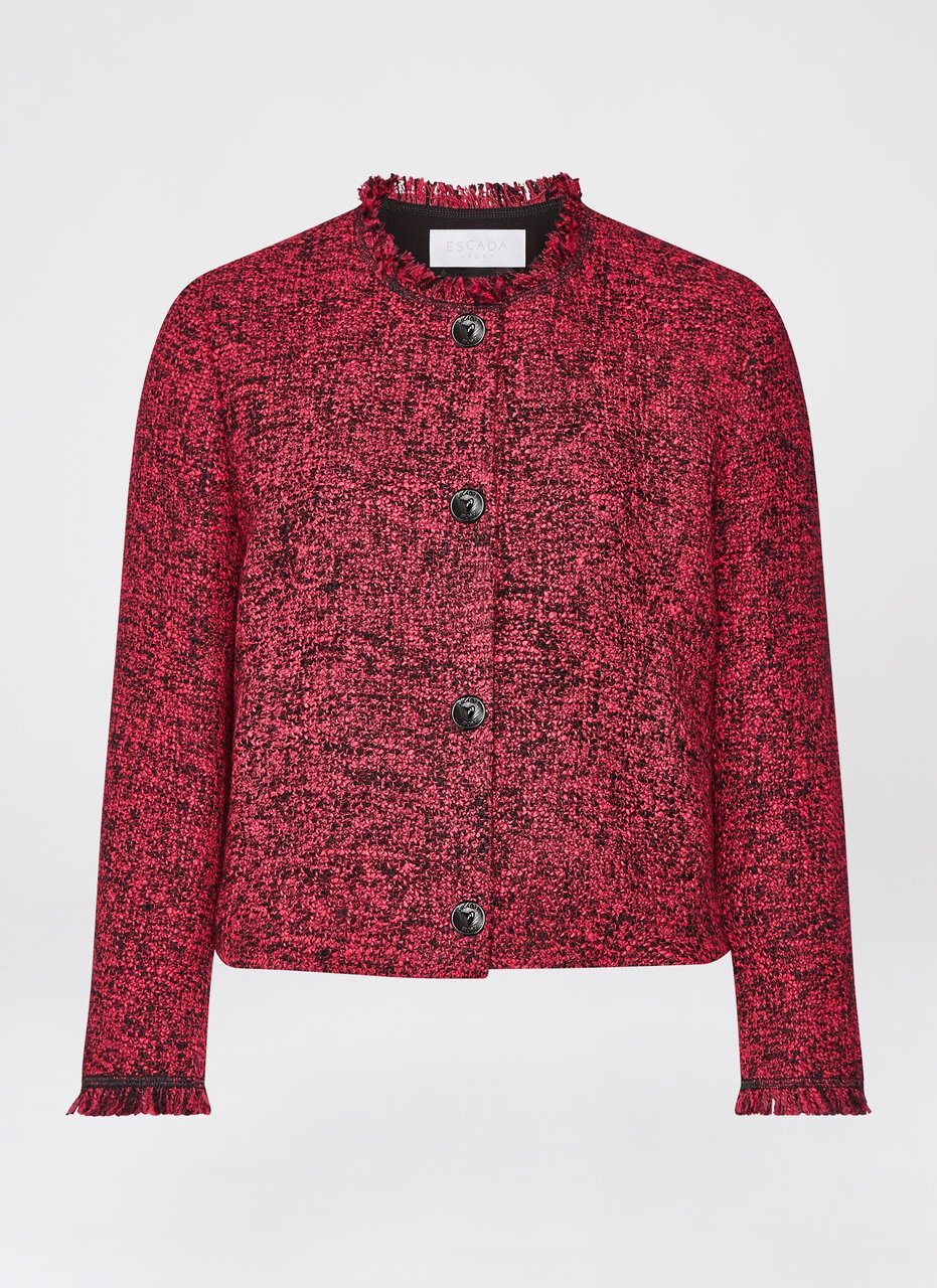 ESCADA Wool Tweed Cropped Jacket