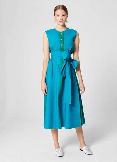 Cotton A-line Midi Dress - ESCADA ?id=16402069028996