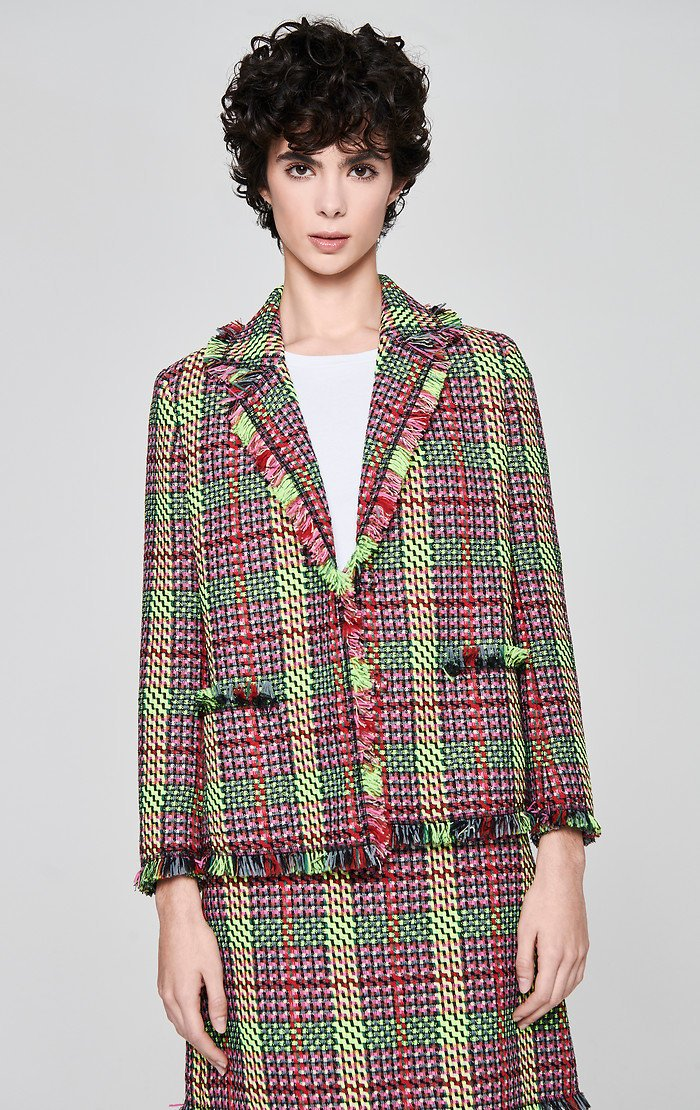 Multicolor Check Tweed Jacket - ESCADA ?id=16179942785156
