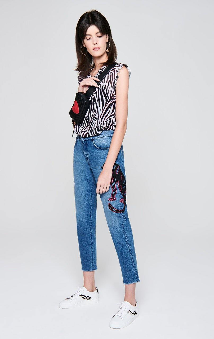 ESCADA Sequin-Embroidered Jeans