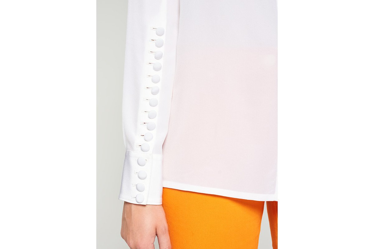ESCADA Silk Button-Detail Blouse