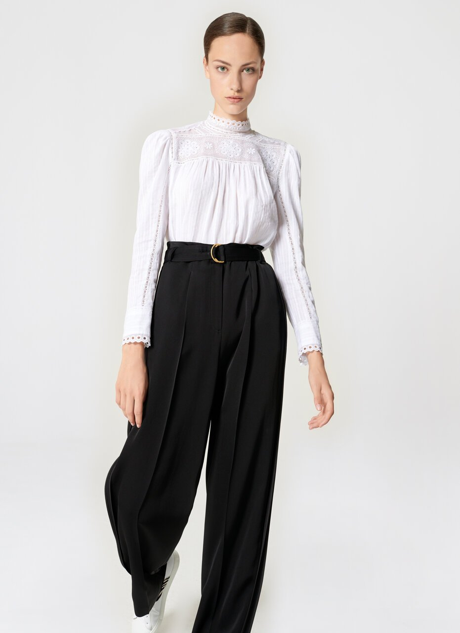 Crepe Belted Wide-Leg Pants - ESCADA ?id=16464465428612