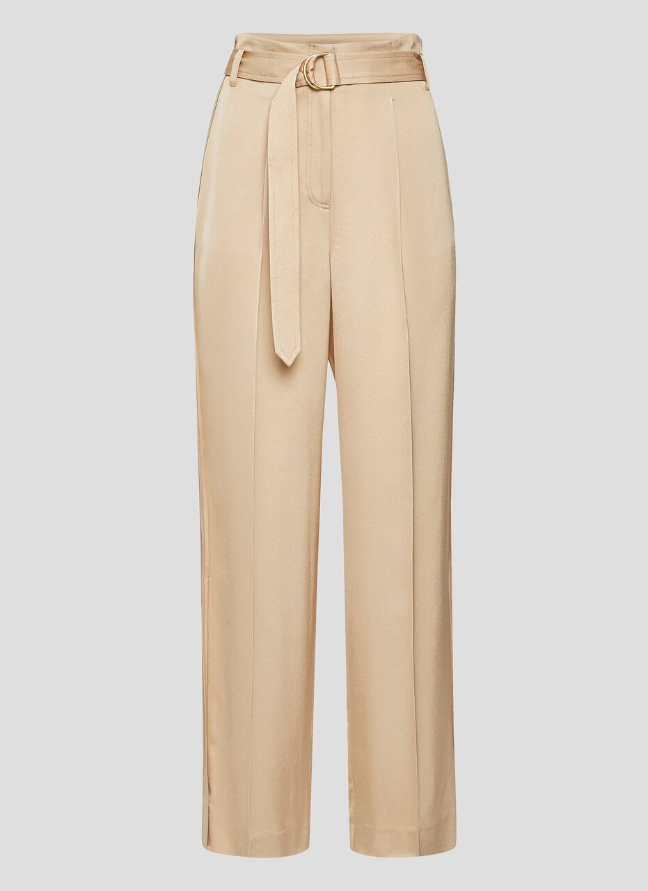 Crepe Belted Wide-Leg Pants - ESCADA ?id=16464465789060