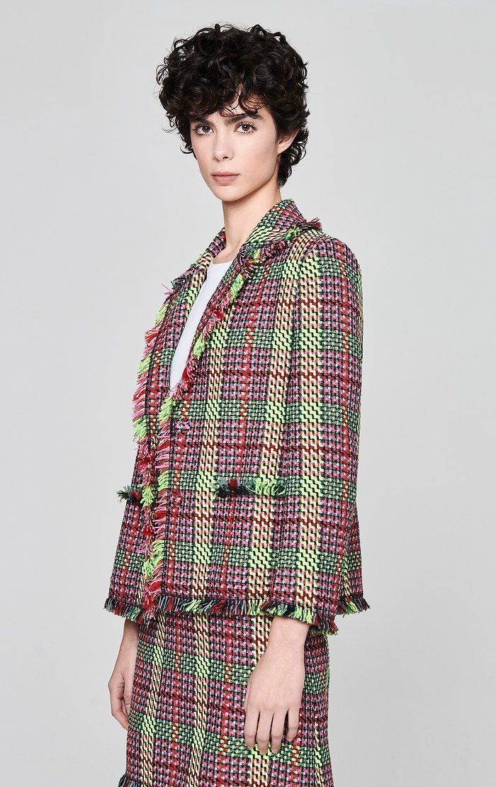 Multicolor Check Tweed Jacket - ESCADA ?id=16179943047300