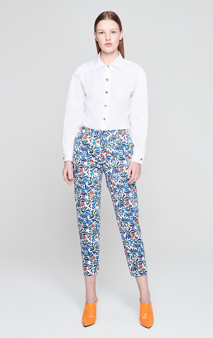 ESCADA Cotton Stretch Printed Pants