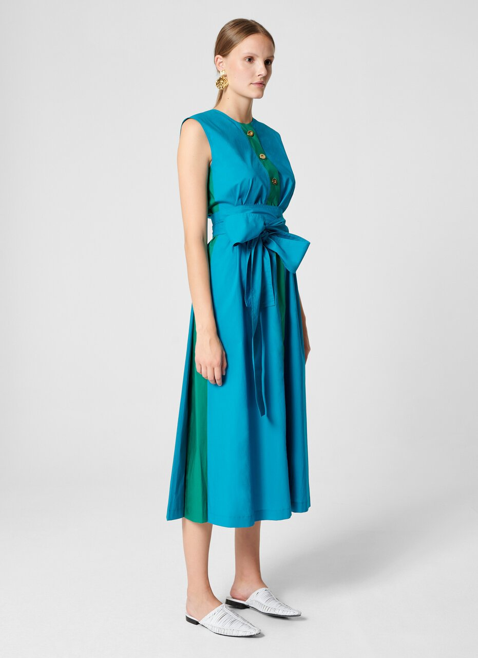 Cotton A-line Midi Dress - ESCADA ?id=16402069127300