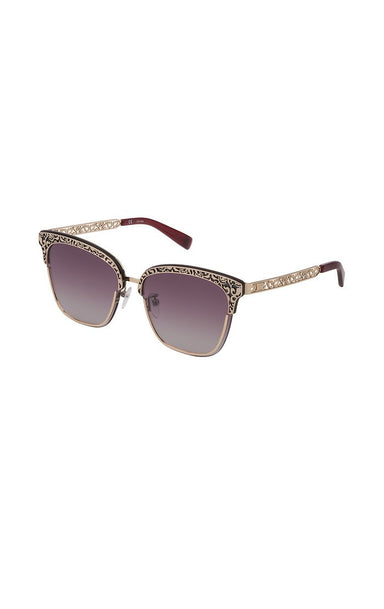 ESCADA Gold Lace-Effect Sunglasses