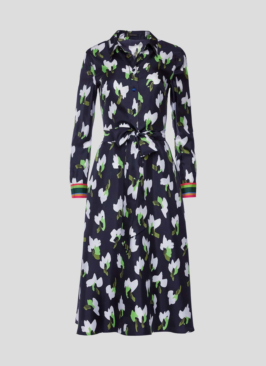 Silk Floral Shirt Dress - ESCADA ?id=16179932528772