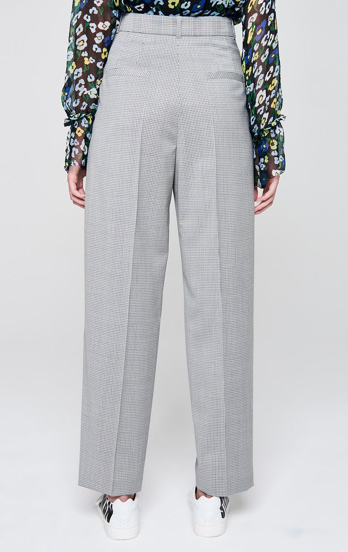 Wool Check Pleated Pants - ESCADA ?id=16179941539972