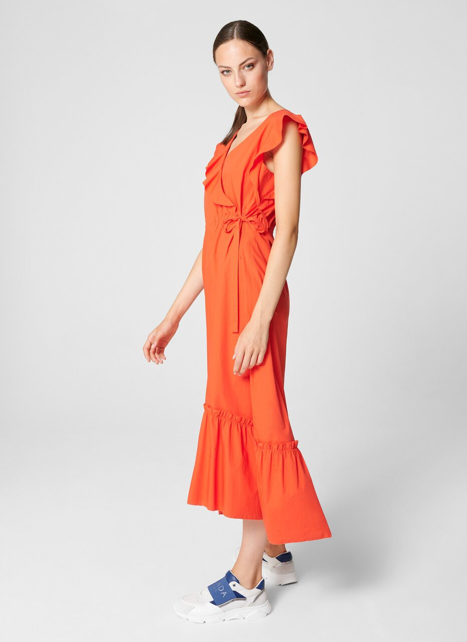 ESCADA Cotton Poplin Wrap Dress