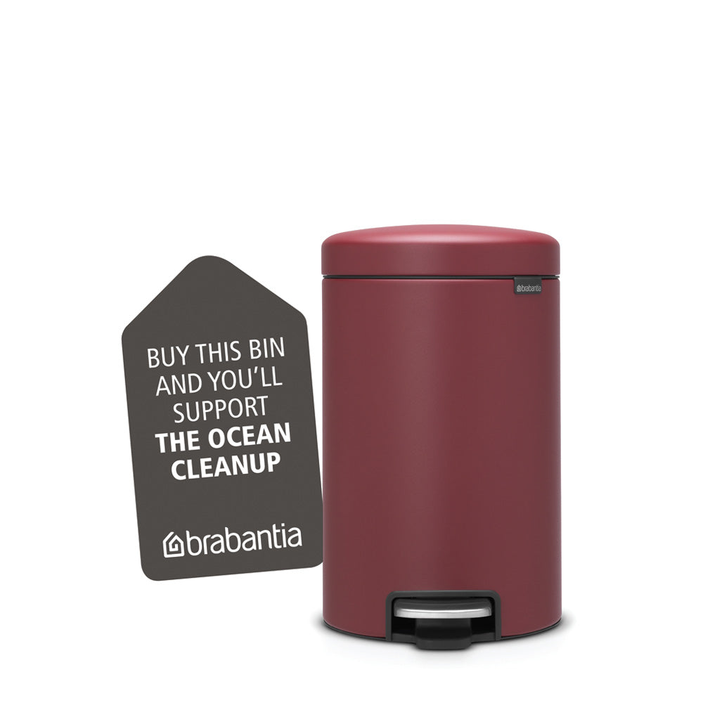 Pedal Bin newIcon 12 litre - Mineral Windsor Red
