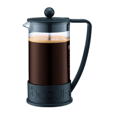 Brazil French Press Coffee Maker 8 Cup, 1L - Black