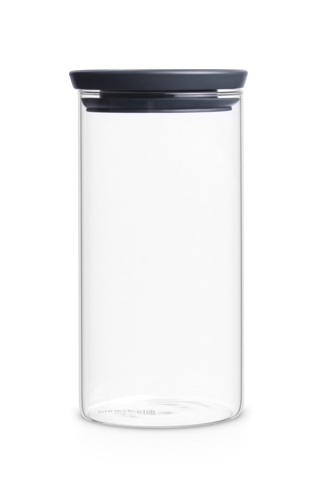 Stackable Glass Jar 1.1L - Dark Grey Lid