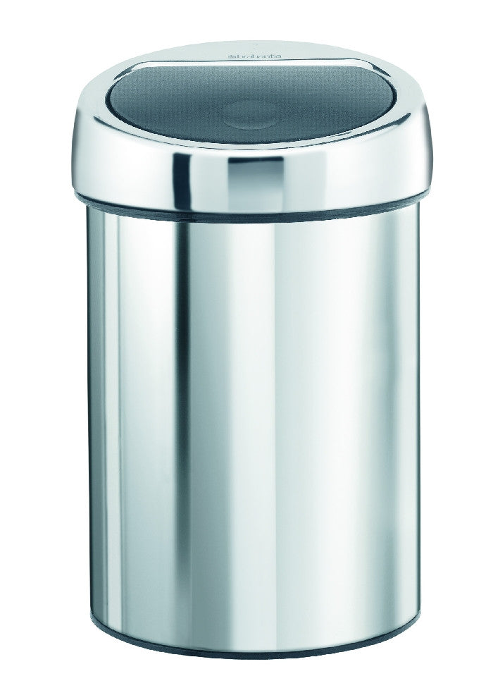 Touch Bin 3 Litre - Brilliant Steel