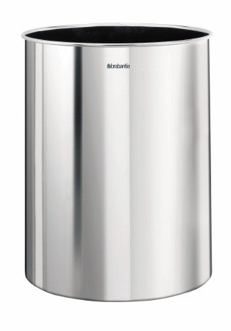 Waste Paper Bin 15 litre - Brilliant Steel