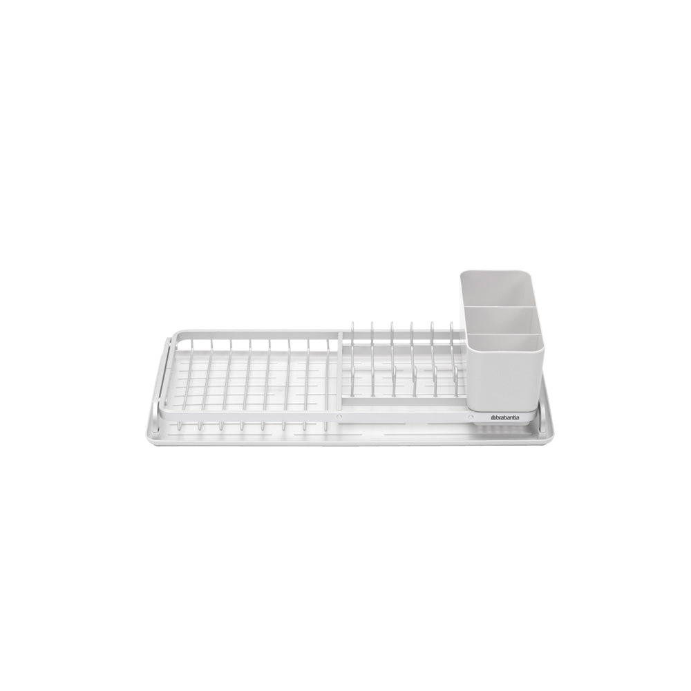 Compact Dish Drying Rack - Light Grey