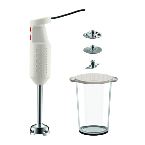 Bistro Electric Blender Stick Set -White