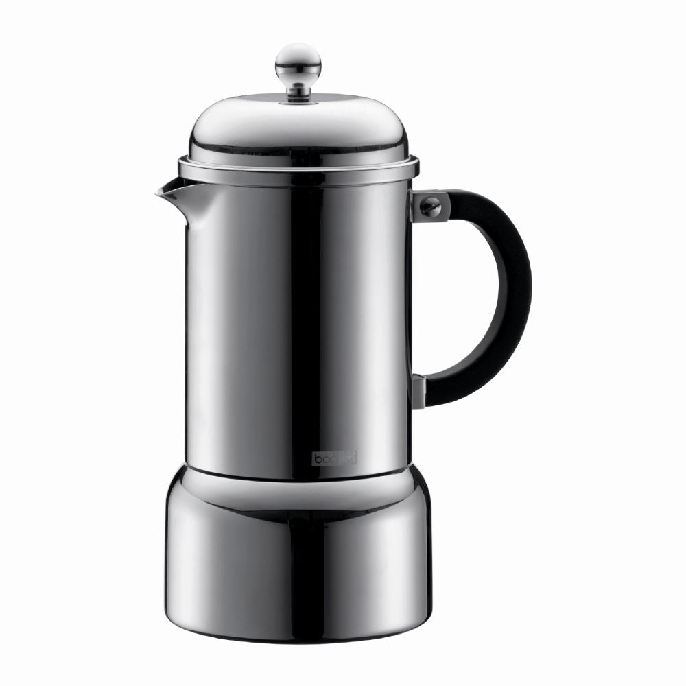 Chambord Espresso Maker 6 cup Stainless Steel - Chrome