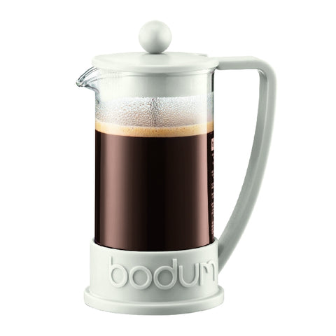 Brazil French Press Coffee Maker 3 Cup, 0.35L - White