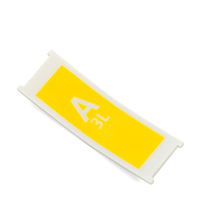 Replacement Plastic Capacity Tag Code A / 3 litre - Yellow
