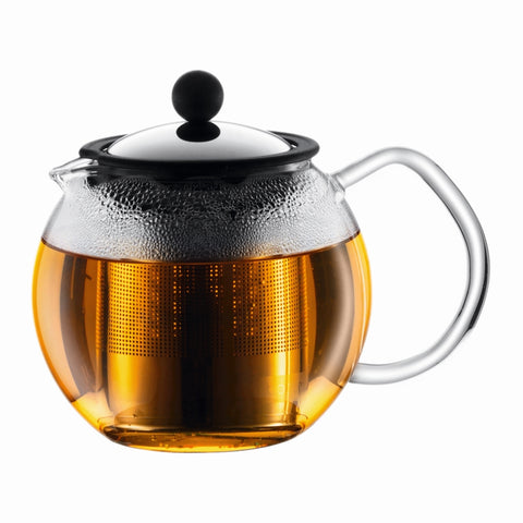 Assam Tea Press s/s filter 500ml -Chrome