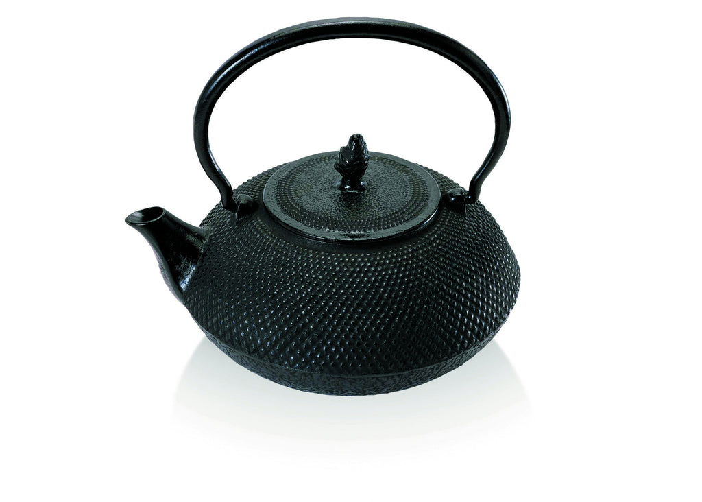 Ceylon 18cm Cast Iron Tea Kettle - Black