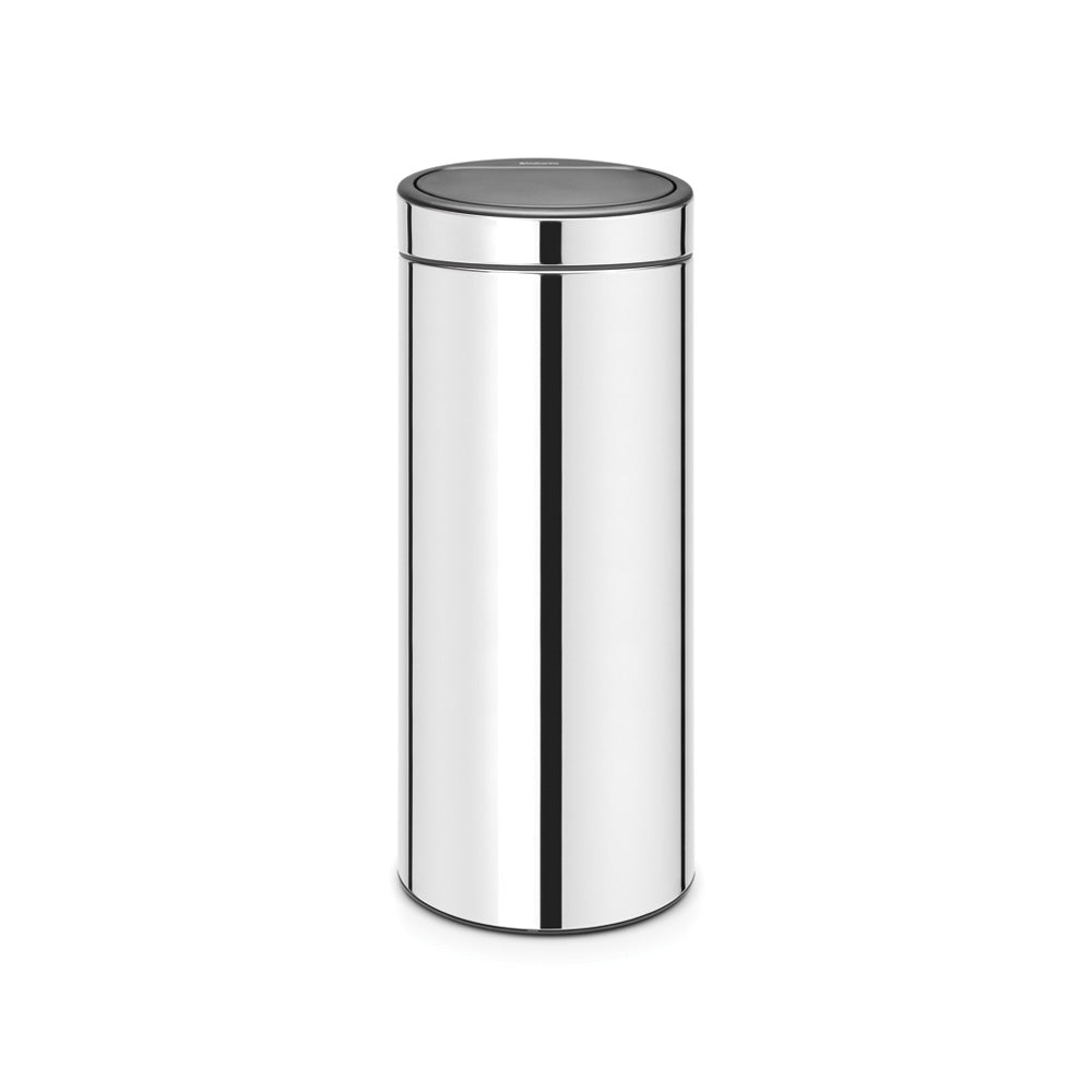 Touch Bin New 30 Litre - Brilliant Steel