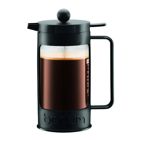 Bean French Press Coffee Maker 8 cup, 1L - Black