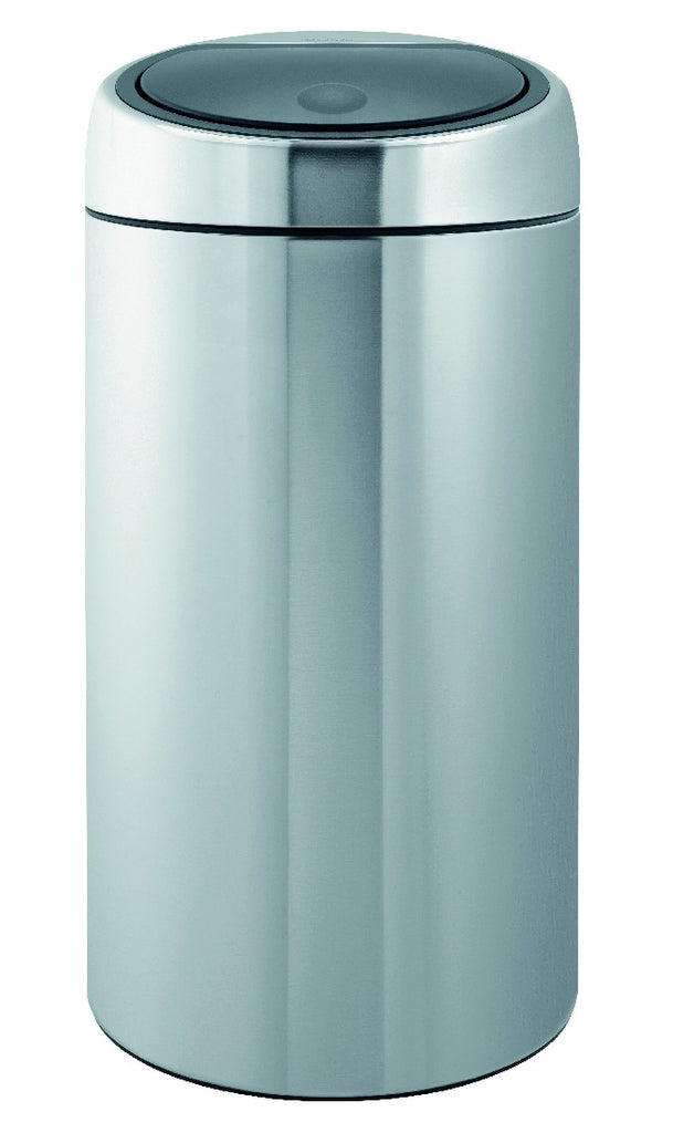 Touch Bin Recycle (Twin) 2 x 20 Litre - Fingerprint Proof Matt Steel