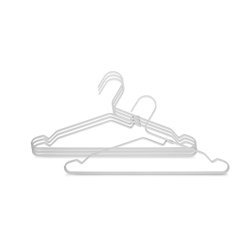 Aluminium Clothes Hanger, Set of 4 - Silver