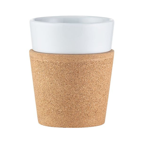 Bistro 2 piece Mug Set with Cork Sleeve 300ml