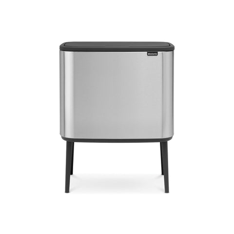 Bo Touch Bin 11 + 23 Litre - Fingerprint Proof Matt Steel