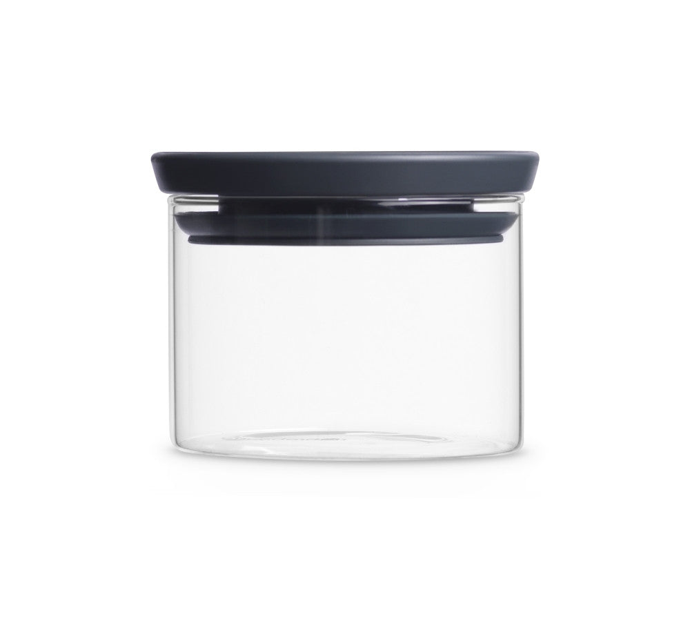 Stackable Glass Jar 0.3L - Dark Grey Lid