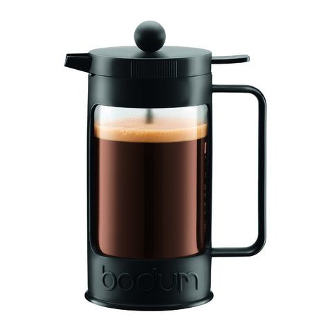 Bean French Press Coffee Maker 3 Cup, 0.35L - Black