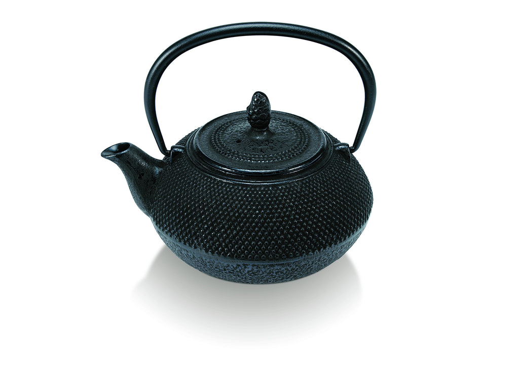 Ceylon 15cm Cast Iron Tea Kettle - Black