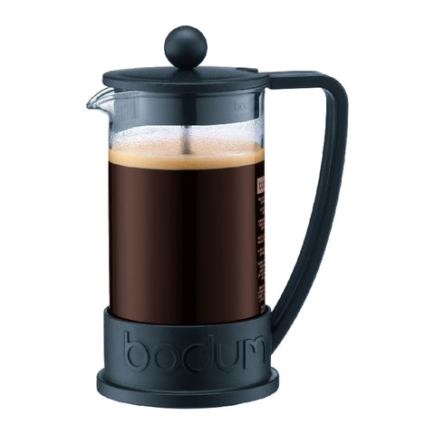 Brazil French Press Coffee Maker 3 Cup, 0.35L - Black
