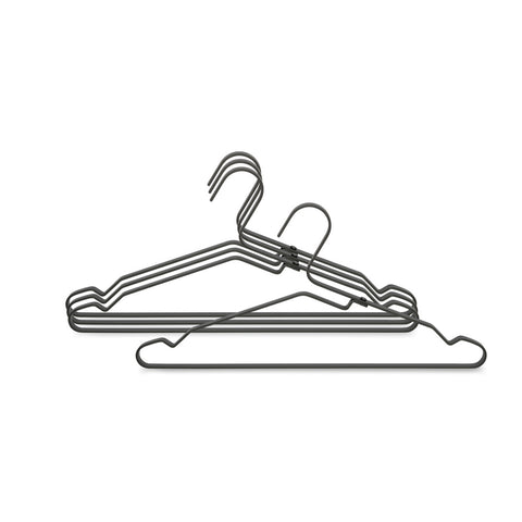 Aluminium Clothes Hanger, Set of 4 - Black