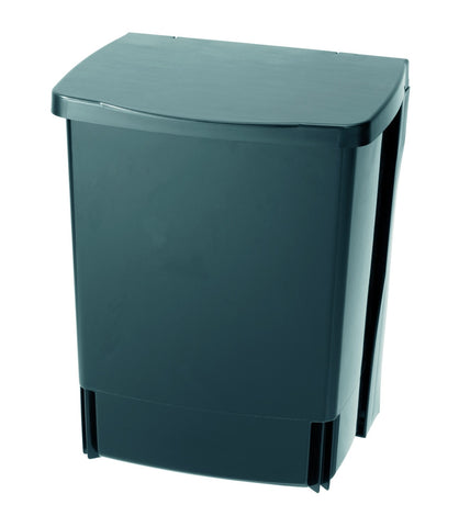 Built-In Bin 10L Rectangular Black
