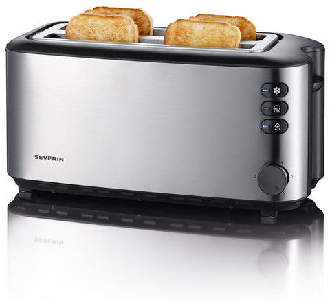 Toaster, Long Slot 4-slice Stainless Steel