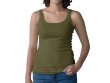Load image into Gallery viewer, Military Green Women's Racerback Tank Top