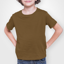 Load image into Gallery viewer, Kids' Brown Short Sleeve T-Shirt